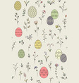 easter plants pattern vector image
