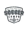 emblem soccer championship vector image vector image