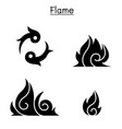 fire flame burn graphic design vector image vector image