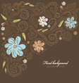 floral ornate background vector image vector image