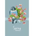 floral spring card vector image vector image
