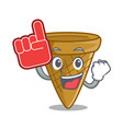 foam finger sweet wafer cone isolated on maskot vector image vector image