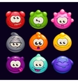 Funny cartoon jelly round characters set vector image vector image