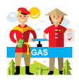 gas pipeline russia - china flat style vector image vector image