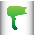 Hair Dryer sign vector image vector image