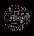 i love chemistry modern round vector image vector image