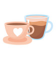 international day coffee ceramic and glass vector image vector image