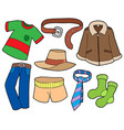 man clothes collection vector image