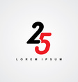 number linked logo vector image vector image
