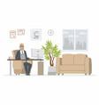 office head - modern cartoon business vector image vector image