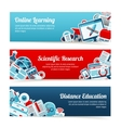 Online Education Banners vector image vector image