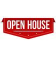 open house banner design vector image