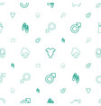pink icons pattern seamless white background vector image vector image