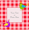 Plaid frame with birdies vector image