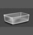 plastic container transparent tray vector image vector image