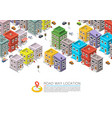 road in the cityscape isometric vector image vector image