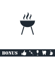 Roaster bbq icon flat vector image