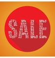 Sale 50 orange vector image
