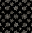 Seamless Christmas black pattern with drawn vector image