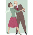 Senior couple dancing waltz vector image vector image