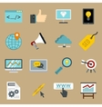 Seo icons set flat style vector image vector image
