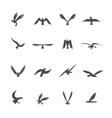 set eagles vector image vector image