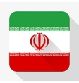 Simple flat icon Iran flag vector image vector image