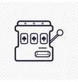 slot mashine simple line icon one arm bandit thin vector image vector image