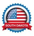 South Dakota and USA flag badge vector image vector image