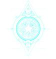 star frame sacred geometry ayurveda symbol of vector image vector image