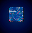 technology cpu design with square luminescent vector image vector image