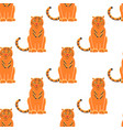 tiger seamless pattern background gorgeous exotic vector image