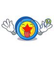 tongue out yoyo mascot cartoon style vector image vector image
