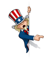 Uncle Sam Pointing at a Banner vector image vector image