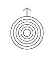 uranus line icon vector image vector image