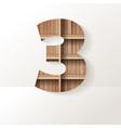 wood shelf font design alphabet letter vector image