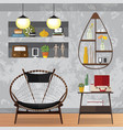 decorated small living room vector image