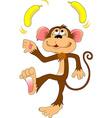monkey with a banana vector image