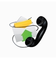 icon E-mail and phone vector image