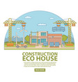 construction eco house concept vector image