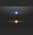abstract blue and gold lights lines on transparent vector image