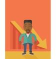African businessman failed vector image