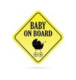 baby on board warning vector image vector image