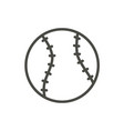 baseball ball icon line baseball symbol vector image
