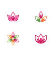 beauty lotus icon vector image vector image