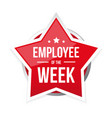 best employee week award badge vector image vector image
