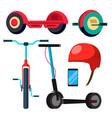 bicycle scooter giroskuter mono wheel vector image