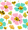 big flower seamless pattern vector image vector image