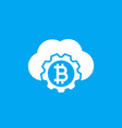 bitcoin cloud mining icon vector image