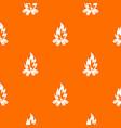 bonfire pattern seamless vector image vector image